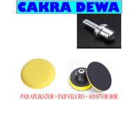 Alat poles body motor dan mobil pad aplikator Velcro dan adaptor BOR