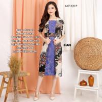 Batik Klasik Baju Wanita Dress Kombinasi Brokat Lace Formal NG532