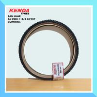 Ban Luar Sepeda Kenda 16 1 3/8 (349) Tan Skin Gum Wall Schwalbe One