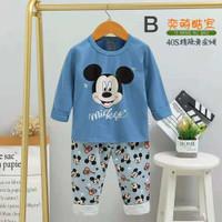 Setelan baju tidur anak laki-laki / piyama anak import mickey mouse - Mickey B, 55