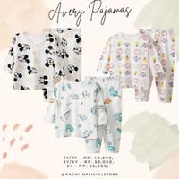 Piyama Anak Set Avery pajamas Baju Pakaian anak unisex Hachi Motif 3
