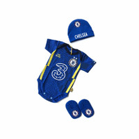 baju bola jumper bayi dan topi kupluk CHELSEA