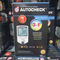 Autocheck GCU 3 in 1 Alat cek gula darah / Asam urat / kolesterol