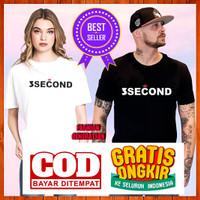 3 Three Second Maroon L l Baju/Kaos Atasan Distro Murah Wanita-Cewek - Putih, S