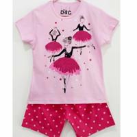 Setelan kaos baju anak perempuan size 1 2 3 4 5 6 7 8 9 10 tahun #7705