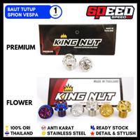 Probolt Baut Tutup Spion Vespa Primavera Iget Lx Modern Stainless King - Gold, Flower
