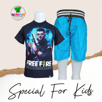 Baju Setelan anak laki laki 3-12 th karakter FREEFIRE Dj Alok 7kids