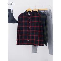 (Europe Size) Kemeja Pria H&M Men Flannel Shirt Original - REGULAR FIT