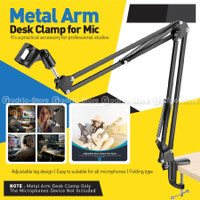 MS37 Microphone Stand Clip Arm Mic for Podcast / Recording / Streaming