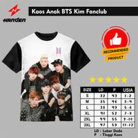 Baju Kaos Anak Laki-Laki Dan Perempuan BTS Kim Fanclub