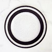 Artisan Ceramic   Black Speckled Side Plate D:21 cm