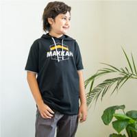 Baju Kaos Hoodie Ngaji Anak Laki Laki Lengan Pendek Branded Ammar Kids - Hitam, S