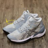 Promo Sale !! Sepatu Voli Asics Sky Elite Light Grey Abu Badminton