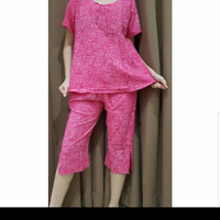 Baju Tidur Batik Anita Baby Doll Celana Pendek Size M