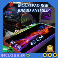Mouse Pad Gaming Unik RGB LED Mousepad Komputer Laptop PC MONTIAN