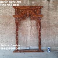 Pintu Tengah Rumah Gebyok Kayu Jati Ukir Kongliong