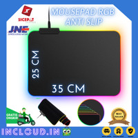 Mouse Pad Gaming Polos RGB LED Mousepad Komputer Laptop PC MONTIAN