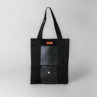 Pamole - Tote Bag Bahan Kanvas Premium Penutup Resleting Lapis Furing