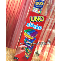 BUNDLE MATTEL, Deluxe UNO Card (Get Wild 4 UNO) + STACKO ORIGINAL