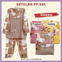Setelan Lengan Panjang Jumbo XXL / Baju Tidur Wanita - PP XXL-Koran, Salem
