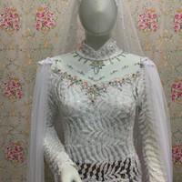 kebaya pengantin akad / baju akad nikah / kebaya akad nikah