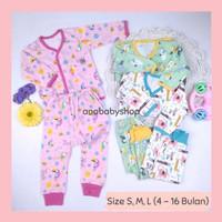 3 setelan baju piyama anak bayi perempuan baby girl 3 6 12 16 bulan