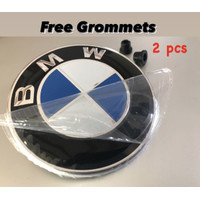 Emblem BMW Kap Mesin 82mm / Bagasi 74mm kualitas original oem