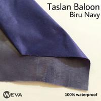 Bahan Kain Jaket Parasut Taslan Baloon Kilap Waterproof Navy