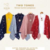Blouse Jumputan Two Tones Katun Batik Solo