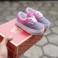 sepatu anak perempuan bayi 1 tahun vans anak era grey pink tali
