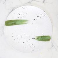 Artisan Ceramic   Green Stroke Dinner Plate D:28 cm