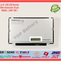 LCD LED 11.6 Slim 30Pin Laptop Asus E202 E202S Kuping Atas Bawah