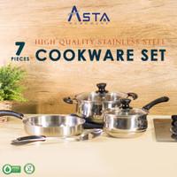 Panci Set Penggorengan Stainless Steel - Cookware Set Anti Karat