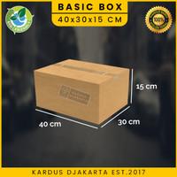 KARDUS BOX KARTON Uk. 40x30x15 POLOS DAN BARU