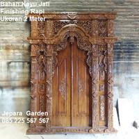 Pintu Rumah Gebyok Kayu Jati Jepara Ukuran 2 Meter