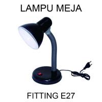 Lampu Belajar Jepit / Lampu Kerja / Meja Leher Flexibel Fitting E27