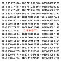 Nomor Cantik Indosat IM3 10 Angka 11 Nomer 12 Digit M3 Kartu Perdana