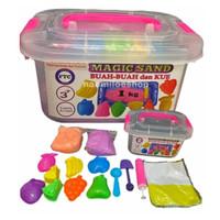 mainan pasir ajaib box / mainan pasir warna warni / box jumbo - 1kg
