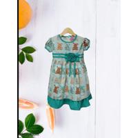 Baju Pesta Anak Perempuan - Dress Katun Anak Perempuan 3 Sampai 8 Thn