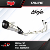 knalpot r9 h2 stainlese ninja 250 fi 2018