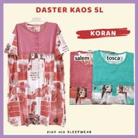 Daster Kaos Jumbo 5L / Baju Tidur Wanita - Dst 5L-Koran, Salem