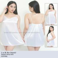 baju tidur dress daster wanita dewasa Sexy hot jumbo big size XL putih
