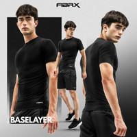 Baselayer Manset FIBRX Lengan Pendek Premium Baju Dalaman Pria