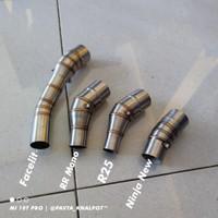 Sambungan Slip On Knalpot Racing Ninja250fi Mono R25 Mt25 Cbr150