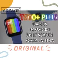 ORIGINAL Smartwatch IWO T500 44mm Telepon 13 15 Apple watch Jam Tangan - Biru, T500+ plus