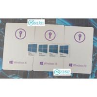 Windows 10 Pro Key Card FPP Includ LOGO DVD Burningan TOKO