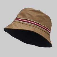 Topi Bucket Hat BucketHat Coklat Mocca Navy List Norway Topi Mancing P - Mocca NORWAY
