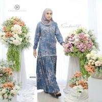 Dress Kimberly by Nadheera Luxury   Gamis Rayon Premium Busui Friendly - M