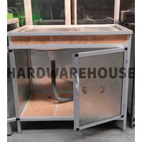 Meja Wastafel Cuci Piring Dapur Portable Keramik Aluminium