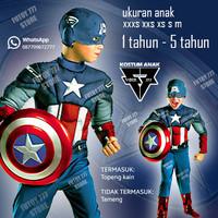 Kostum anak Captain America baju costume cosplay superhero super hero